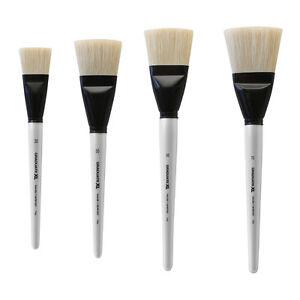 daler rowney graduate xl natural bristle paint brush flat 4 sizes