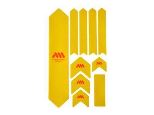 All Mountain Style AMS Frame Guard  Protection Stickers XL Yellow Orange