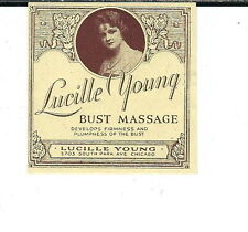 AV-016 - Lucille Young Bust Massage Treatment Vintage Jar Label 2x2-inch 1930s