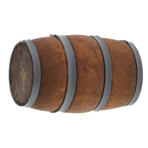 1//12 Scale Dollhouse Miniature Beer Barrel Wooden Bucket Home Decoration