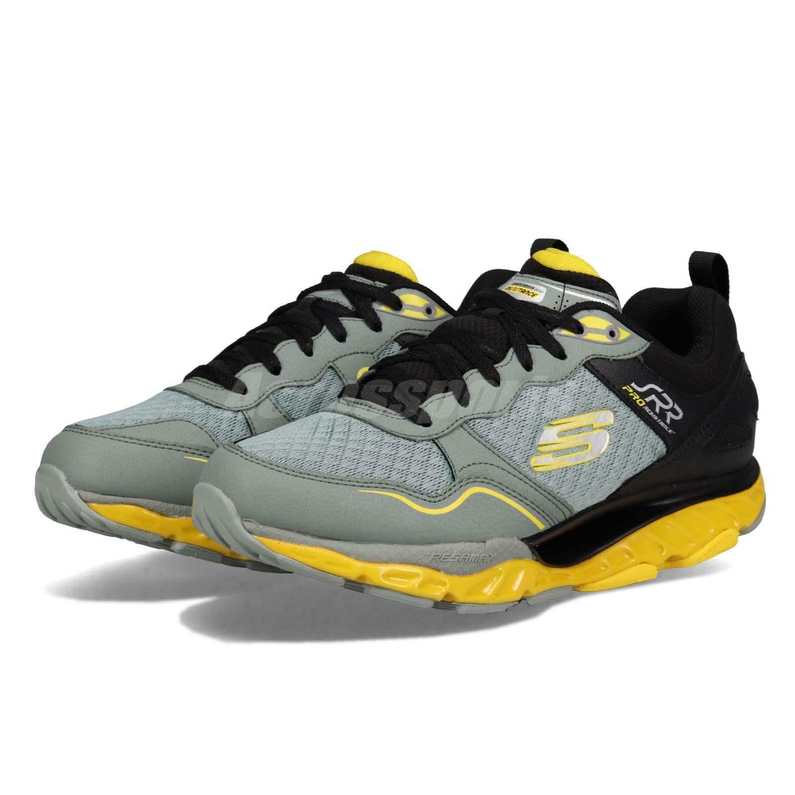 Skechers SRR Pro-Resistance-Runway Charcoal Yellow Men Running shoes 999124-CCYL