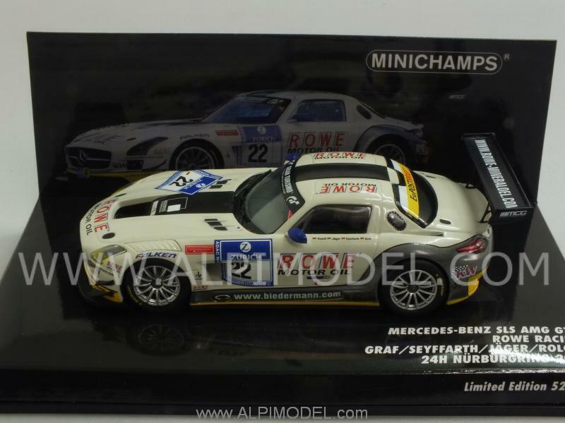 Mercedes SLS AMG GT3 Nurburgring 2012 Graf - Jager 1 43 MINICHAMPS 437123222