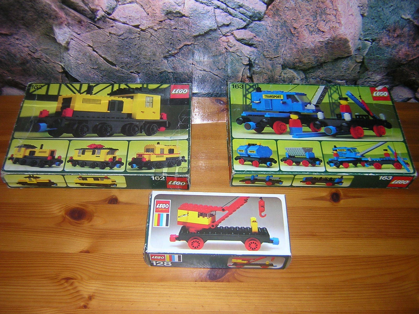 ( HK )  LEGO Clasic Eisenbahn 128 162 163  OVP BA  4,5V  9V  12V
