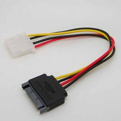 Male Female 4-pin Power Drive Adapter adaptor CORD to Molex IDE SATA 15-pin xx