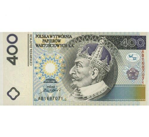 .VERY RARE 400 zloty 1996 Poland Copy banknoty
