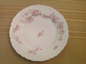 Vintage Habsburg China Mz Austria Porcelain Pink Flowers Dinner
