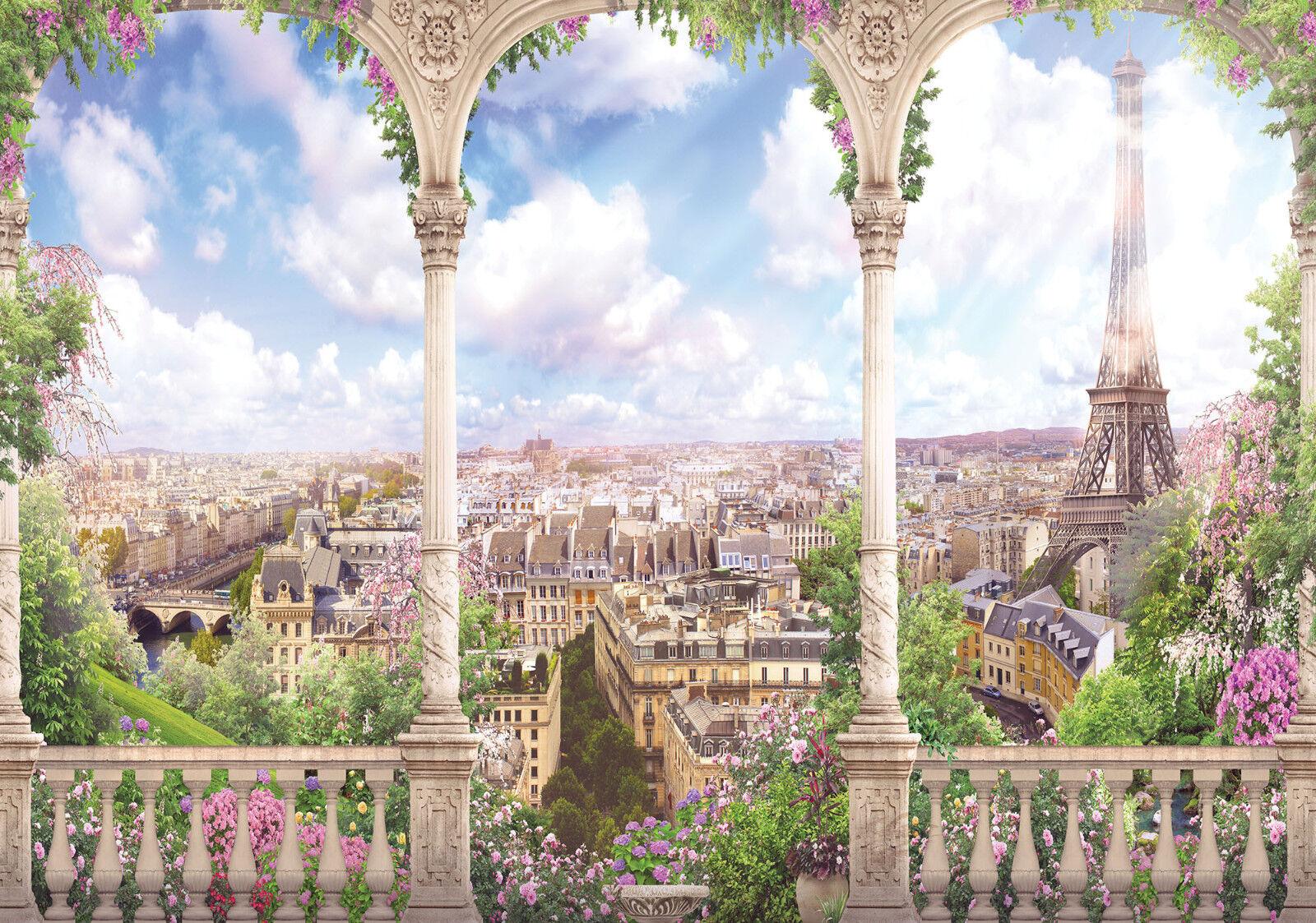 VLIES Fototapete-PARIS-(11417)-Design Stadt Frankreich Skyline Terrasse City xxl