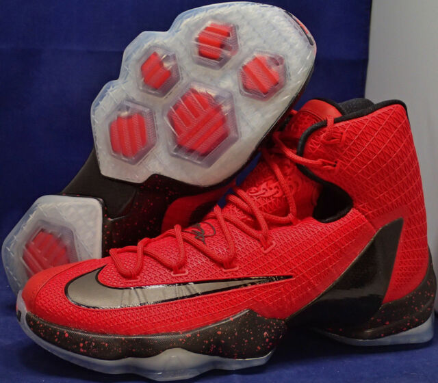 the best attitude fd5ca ab977 ... authentic nike lebron xiii 13 elite red grey black basketball shoes  sneakers mens 16 16 babd1