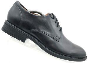 dc866c2195 Image is loading Clarks-Black-Leather-Plain-Toe-Oxfords-Waterproof-Comfort-