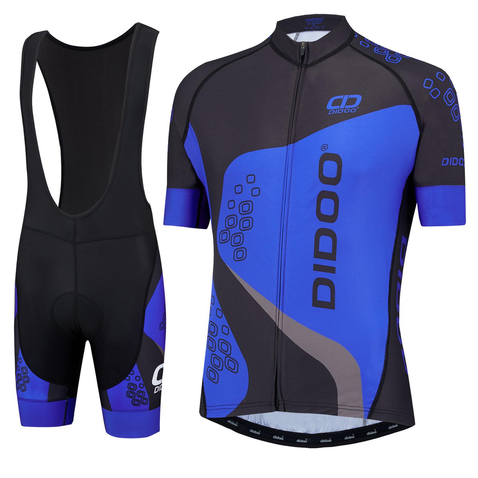 Didoo New Half Sleeve Cycling Jersey and Padded Bib short Set Bike Top MTB 2PC