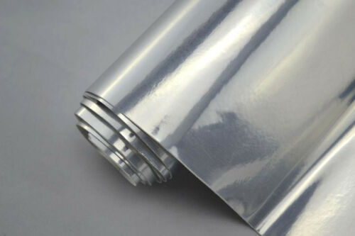 6€//m² Chrom Folie 150 cm breit  Klebefolie Auto Foliei selbstklebed flexibel