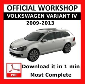 />/> OFFICIAL WORKSHOP Manual Service Repair Volkswagen Variant IV 2009-2013