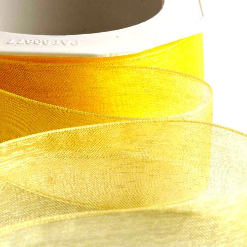 Cut Lengths io Organza Woven Edge Sheer Chiffon Wedding Crafts Ribbon 1m//2m//3m
