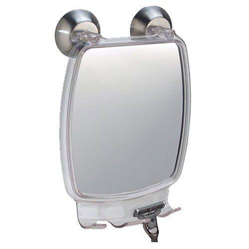Interdesign Forma Power Lock - Shower Shaving Mirror With Razor Holder And Sucti
