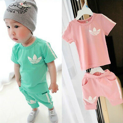 Boy Girl Top T-shirt + Short Pants Baby/Toddler Clothing Sweatshirt Outfit Suits