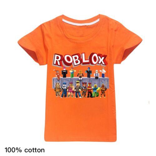 REGNO Unito New Kids 100/% COTONE roblox T-shirt Ragazzi Ragazze Casual Manica Corta Tee Tops
