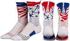 Nike Men's Elite Versatility 4th Of July Basketball Crew Socks XL  12-15