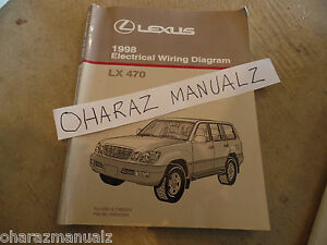 1998 LEXUS LX470 Electrical Wiring Diagram Service Manual ...