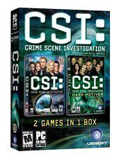CSI Double Pack Crime Scene & Dark Motives for PC SEALED NEW
