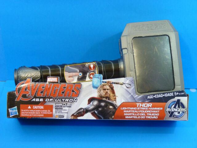 Avengers Age of Ultron Thor LIGHTNING STRIKE HAMMER Lights & Sounds! Hasbro