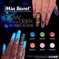 Mia Secret Nail Art glow In The Dark Acrylic Powder 6 Colors -made In Usa