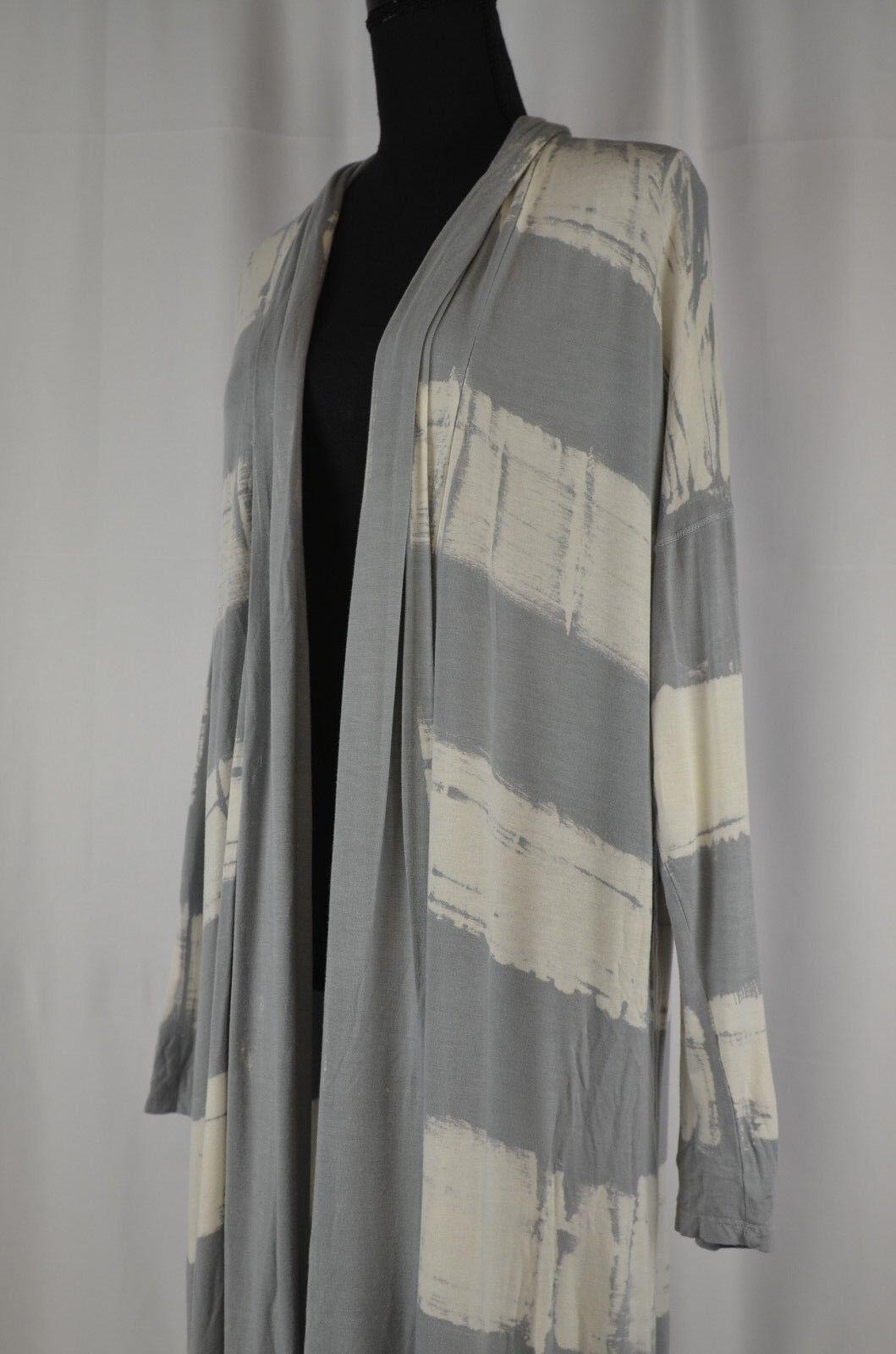 Saturday Sunday Women's Open Front Cardigan Size Medium Tie Dye Anthro Long Cute