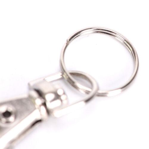 10x argent pivot de gâchette clips mousqueton crochet fermoir porte-clés croBC