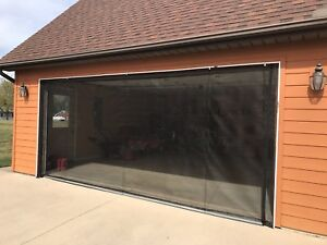 Image Is Loading Zip Roll Brand Up Garage Door Screen