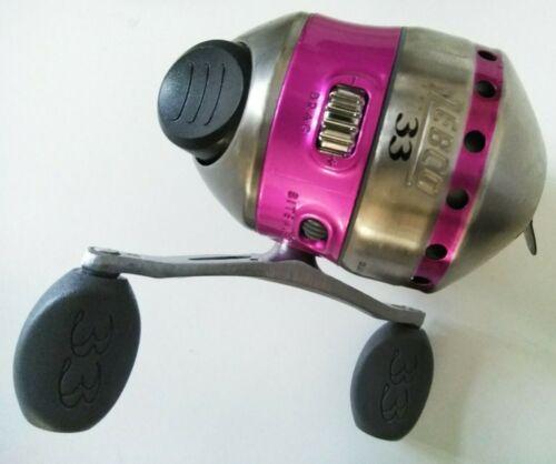 Nouveau Rose ZEBCO Modèle 33 33 Pédalier Spin Cast Reel Morsure alerte bobinée ligne de test 10 lb environ 4.54 kg