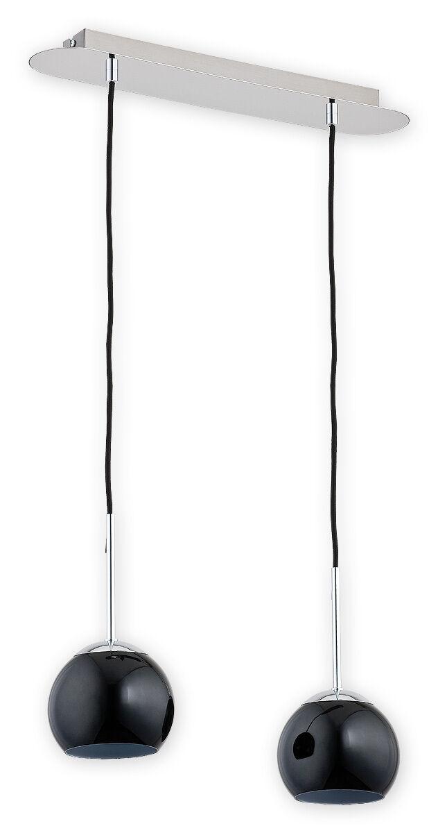 Moderne Pendentif 2 plafonnier boule en verre lampe chrome chrome lampe blanc salle à Femmeger cuisine DEL 012c67