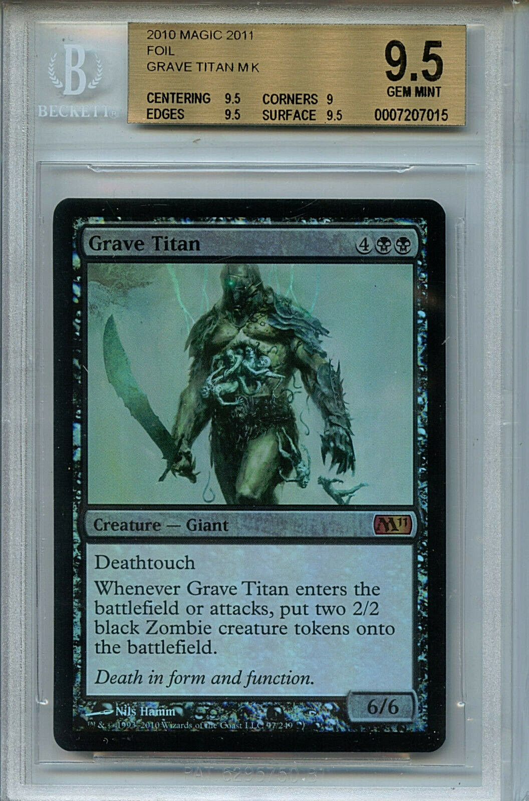 MTG Grave Titan BGS 9.5 Gem Mt MTG 2011 Foil Magic Card Amricons 7015