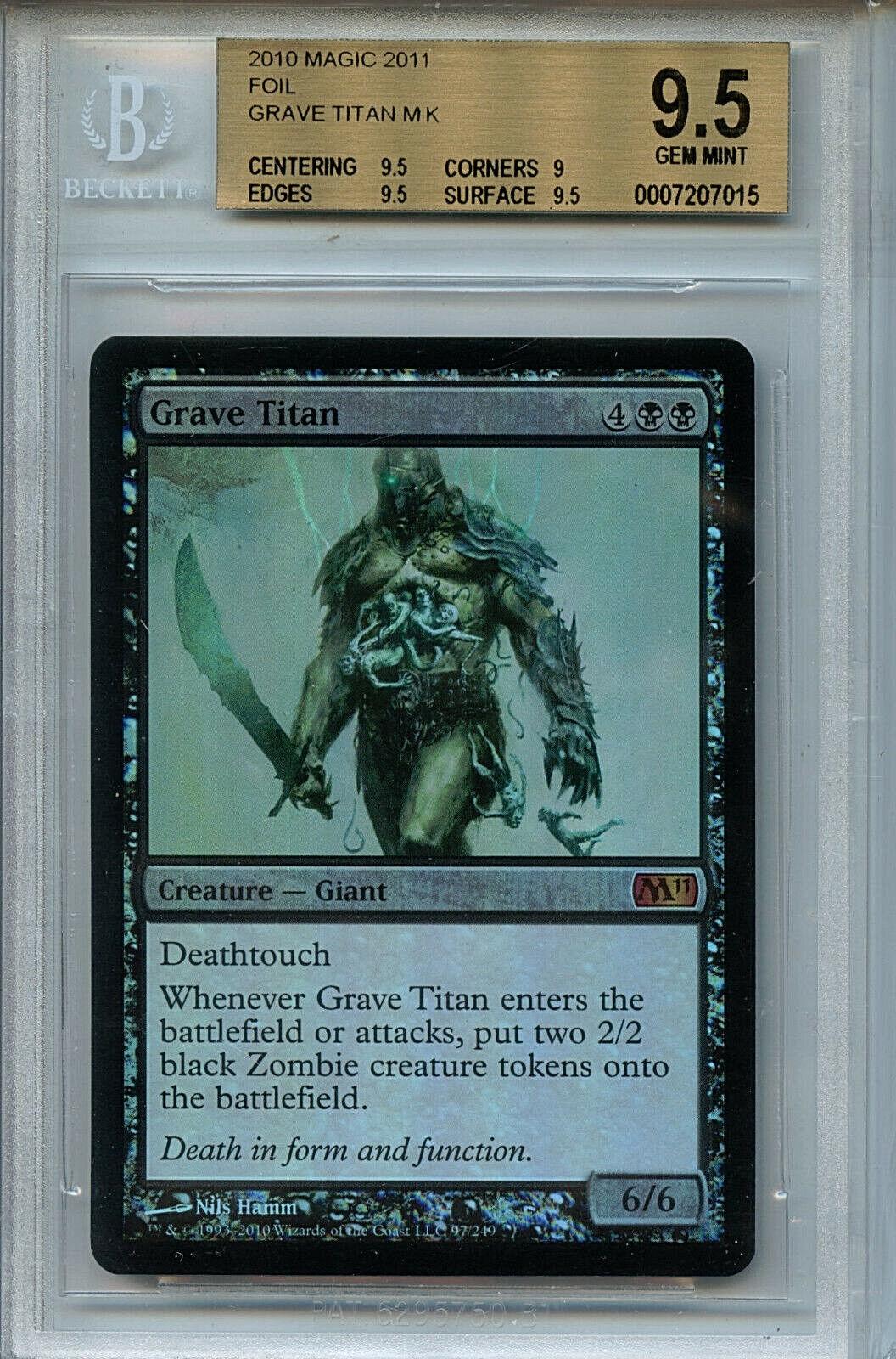 MTG Grave Titan BGS 9.5 Gem Mt MTG 2011 Foil Magic Card Amricons 7015