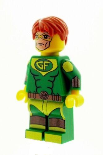 Custom Designed Minifigure - Geo Force Superhero Printed On LEGO Parts