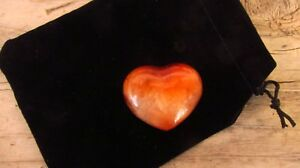 Carnelian-Reiki-Healing-Crystal-Puff-Heart-30mm-with-Pouch-Creativity-Sexuality