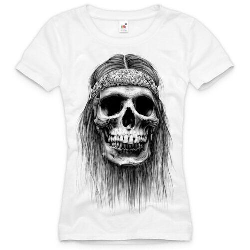 Biker T-Shirt DAMEN skull totenkopf tattoo XS S M L XL XXL usa harley western ♀