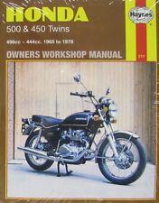 Manual de Haynes 0211 Honda CB500 y 450 Twins (65 - 78) Limited Edition reimpresión