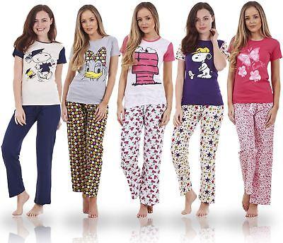 Efficiente Donna Manica Corta Snoopy Pigiama Set Di Caratteri Mickey Pj 's Minnie Nightwear-mostra Il Titolo Originale Avere Una Lunga Posizione Storica