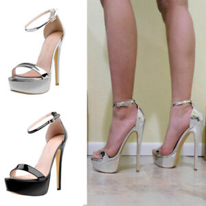 Onlymaker-Women-039-s-Sexy-Open-Toe-Platform-Ankle-Strap-Sandals-High-Heel-Stilettos