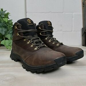 Timberland Rangeley All Weather Boots Full Grain Leather Brown 9810R Men Sz 11.5