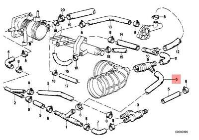genuine bmw e28 e30 coupe saloon vacuum control hose oem 11611287675   ebay  ebay