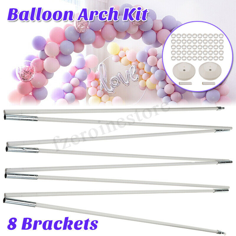 62PCS Balloon Arch Column Stand Frame Kit for Birthday Wedding Party Decoration