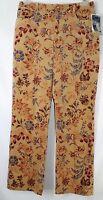 Telluride Clothing Co Women's 10 32x31 1/2 Golden Batik Look 5 Pocket Pants