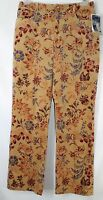 Telluride Clothing Co Women's 8 32x32 Unique Golden Short Velvet Batik Pants