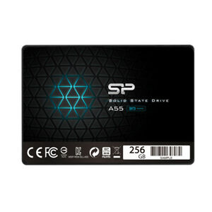 interne-SSD-Festplatte-256GB-Silicon-Power-2-5-034-SATAIII-A55-7mm-Full-Cap-Blue