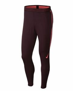Nike-Strike-Soccer-Pants-Dri-Fit-Tapered-Fly-Vent-Bordeaux-AT5933-Small