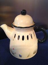 Candle Holder Tea Pot Home Interiors 2004 Wildflower Breeze