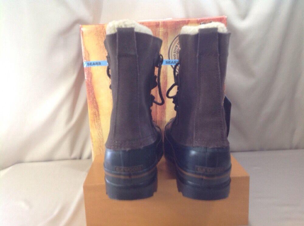 Elk Woods Polar Polar Polar Stiefel Dark braun Leather Waterproof Removable Thinsulate Men 11M 1f17f7