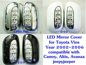 led mirror cover toyota vios soluna sedan 2002 2006 camry corolla altis ava. Black Bedroom Furniture Sets. Home Design Ideas
