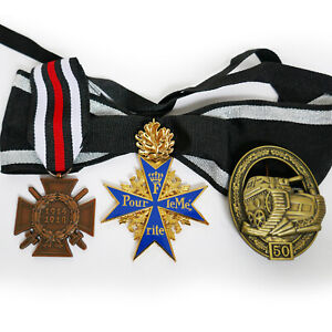 Pour-Le-Merite-Blue-Max-Honor-Cross-Panzer-Tank-German-Badge-Award-Repro