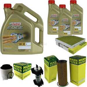 Inspektionskit-filtre-Castrol-8-L-Huile-5w30-pour-audi-q5-8r-3-0-TDi-Quattro